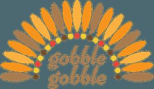 Gobble gobble stylized lettering clipart
