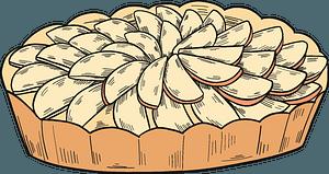 Apple pie clipart