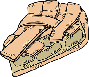 Piece of apple pie clipart