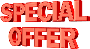 Special offer lettering clipart