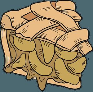 Piece of apple pie clipart