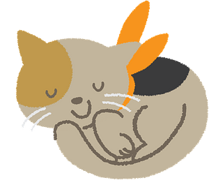 Cat is sleeping clipart