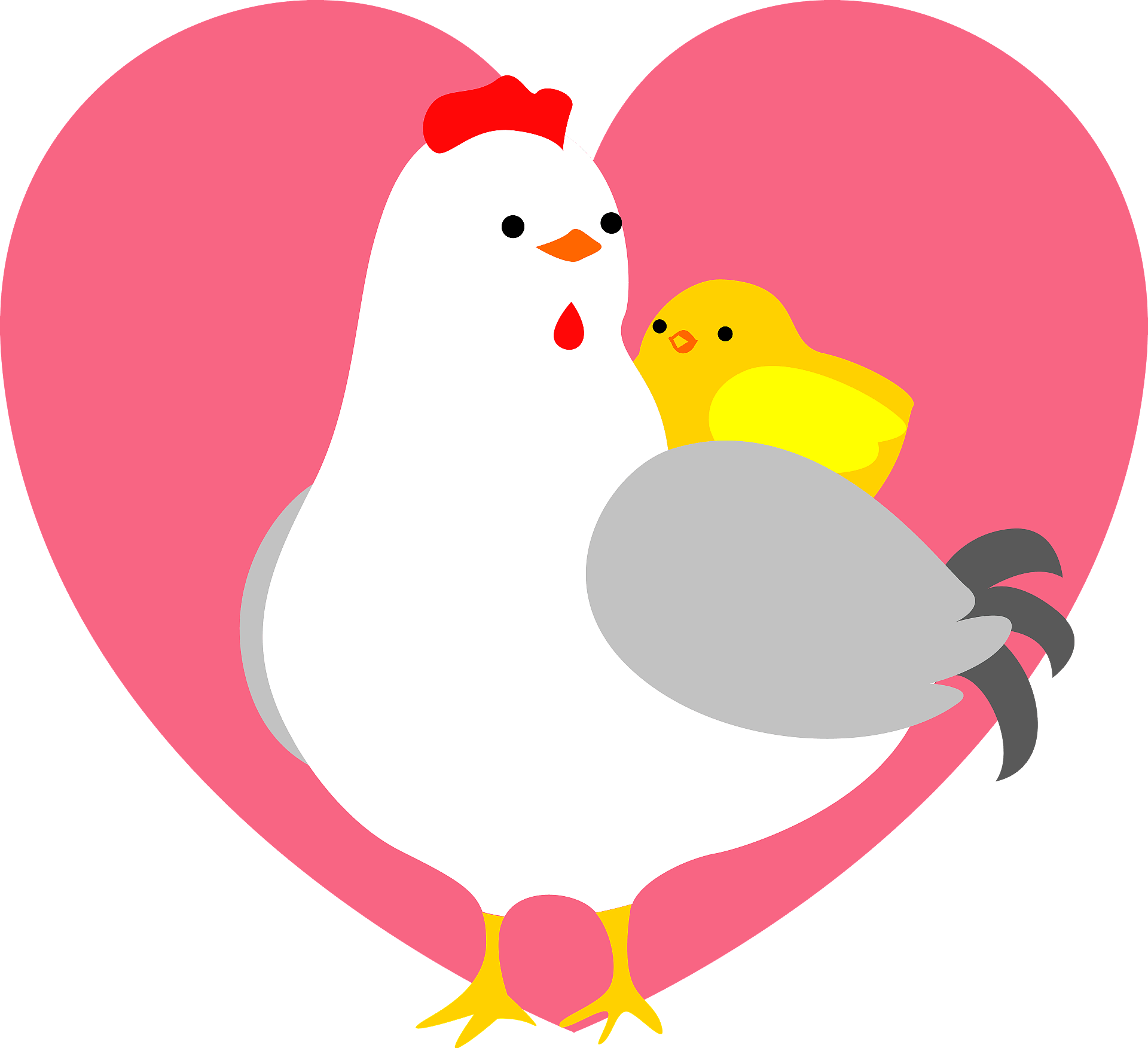 Yellow Chick Character Holding A Valentine Love Heart Stock Photo, Picture  And Royalty Free Image. Image 53241435.