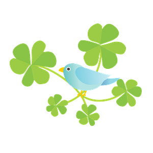 Blue Bird in the Clover clipart