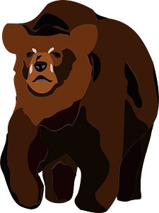 Brown bear animal clipart