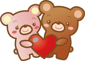 Bears with Heart clipart
