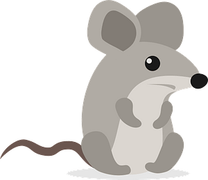 Gray Mouse clipart