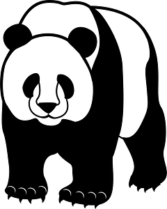 Giant panda animal clipart