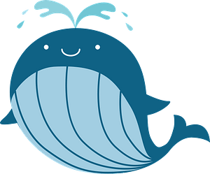 Whale is spouting clipart