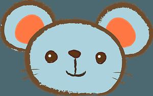 Blue Mouse Face clipart