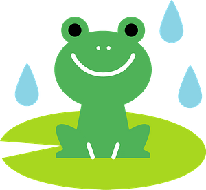 Frog on a Lily Pad clipart