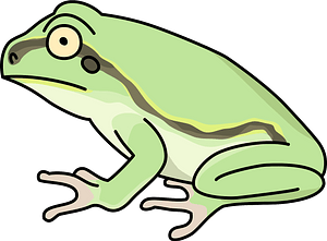 Dark spotted frog animal clipart