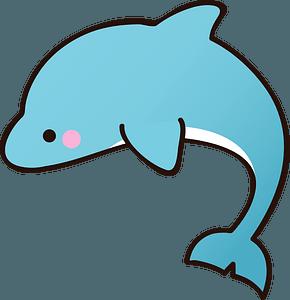 Blue Dolphin clipart