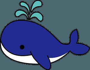 Whale spouting clipart