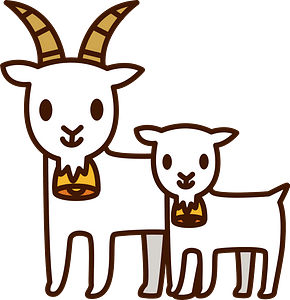 Goat Mother and Baby clipart