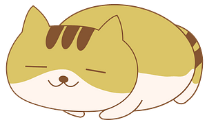 Smiling Yellow Cat Is Sleeping clipart