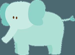 Blue Elephant clipart