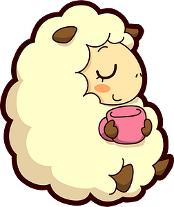 Sheep with Tea 클립 아트