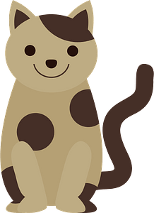 Smiling Spotted Cat 클립 아트