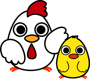 Chicken and chick clipart