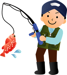 Fishing man clipart