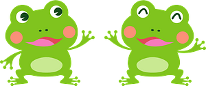Frogs animal clipart