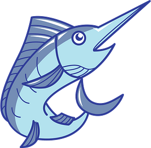 Marlin fish animal clipart