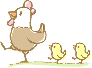 Chicken and chicks clipart