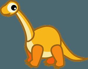 Brachiosaurus dinosaur clipart