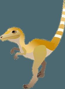 Compsognathus dinosaur clipart