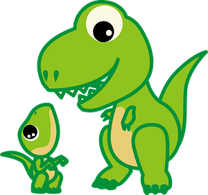 Dinosaur - mother and baby clipart