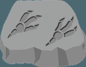 Fossil of dinosaur footprint clipart