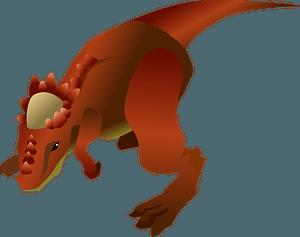 Pachycephalosaurus dinosaur clipart