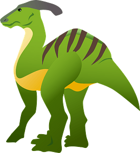 Parasaurolophus dinosaur clipart