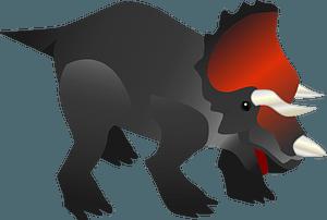 Triceratops dinosaur clipart