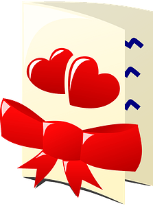 Valentine day card clipart