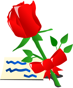 Valentine day rose clipart