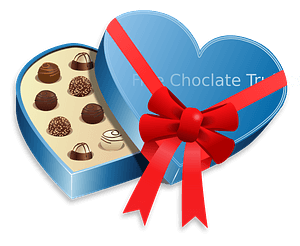 Valentines day - love choclate clipart
