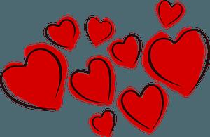 Sketchy hearts clipart