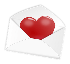 Valentine's day - love letter clipart