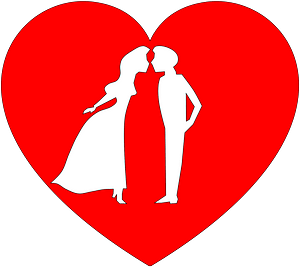 Couple in heart clipart