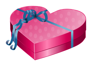 Valentines day - gift box clipart