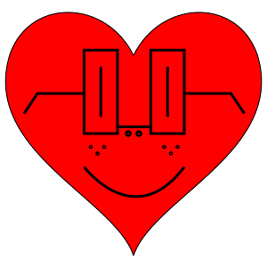 Heart smiley face clipart