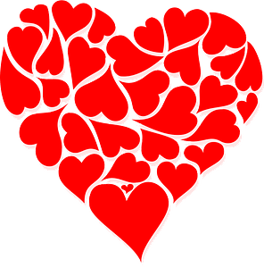 Hearts for Valentine's Day clipart