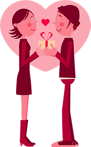 Valentine's Day couple clipart