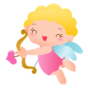 Cupid with Bow and Arrow clipart