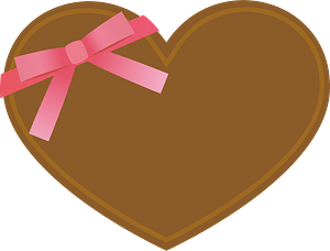 Heart chocolate Valentine's Day clipart