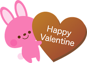 Valentine's Day Rabbit clipart