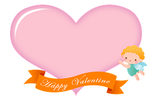 Valentine's Day Cupid and Heart кліпарт