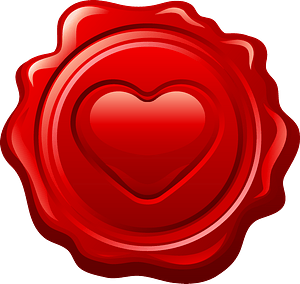 Heart stamp clipart